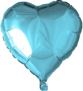 Folienballon Herz Hellblau 45cm