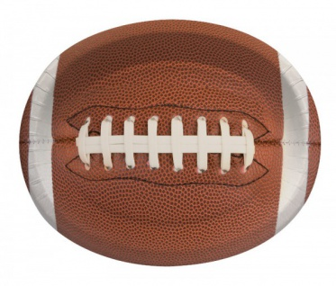 8 große ovale Teller American Football Superbowl