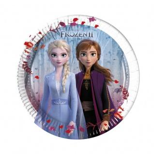 8 kleine Papp Teller Frozen Eiskönigin 2