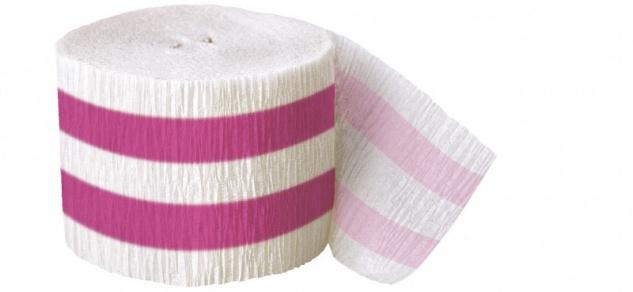 Krepp Band Pinke Streifen