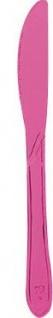 10 Plastikmesser Neon Pink