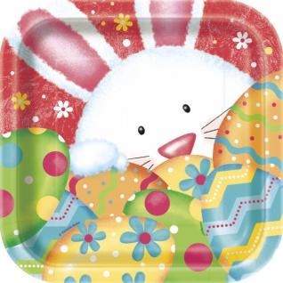 10 kleine Ostern Pappteller Hasen Spaß