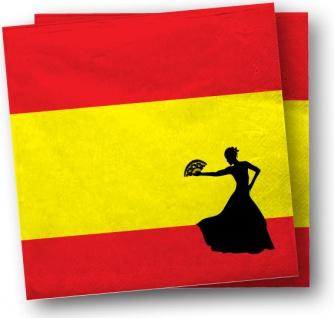 20 Servietten Spanien Party Deko