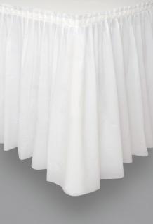 Plastik Tischrock Weiß