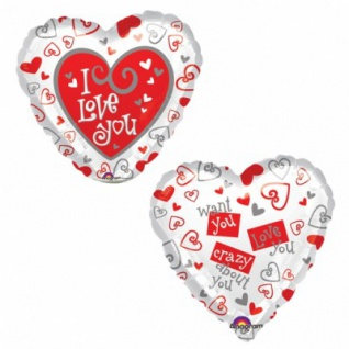 I Love You Herzballon