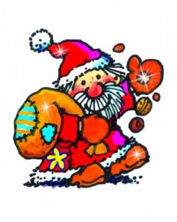 Mini Fensterbild Weihnachtsmann mit Sack
