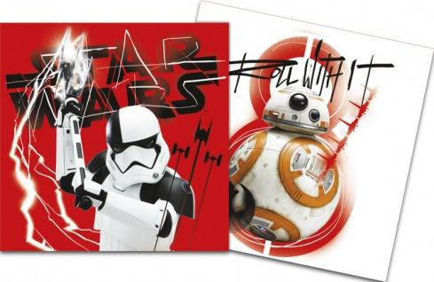 52 Teile Star Wars Episode 8 glänzend foliert Party Deko Set für 16 Personen - Vorschau 4