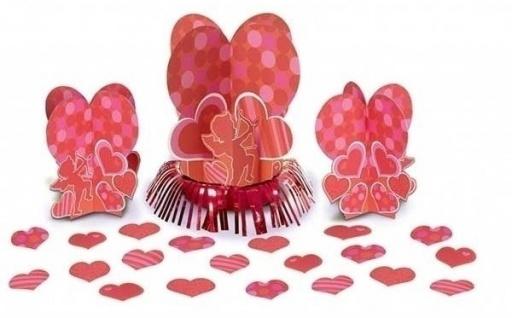 27 Teile Valentinstag Tischdeko Set Amor mit Pfeil und Bogen