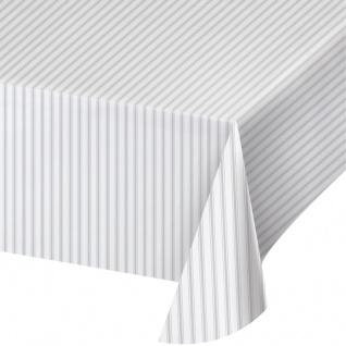 Plastik Tischdecke passend zur Silber Verzinkt Optik