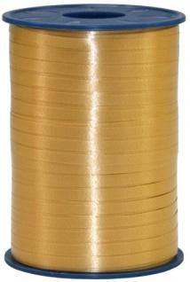 Geschenk oder Ballonband Gold 5mm 500 Meter Rolle