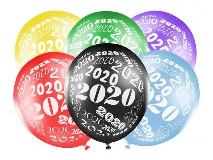 6 bunte Luftballons 2020