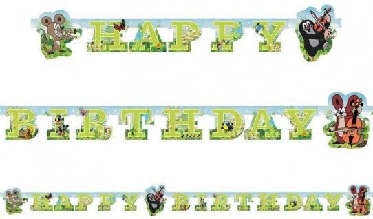 Geburtstags Girlande Pauli der kleine Maulwurf