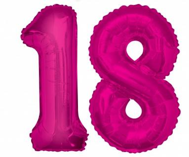 XXL Mega 93 Teile zum 18. Geburtstag Dekorations Party Set Pink für 32 Personen - Vorschau 2