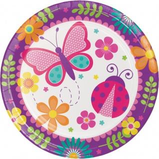 48 Teile Party Deko Set Schmetterlinge im Garten für 16 Personen Rosa Blau - Vorschau 2