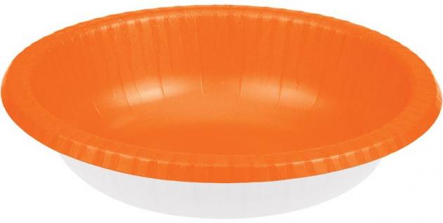 20 Schalen in Orange aus Pappe 590 ml
