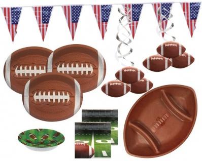 XXL 36 Teile American Football Superbowl Party Deko Set 8 Personen