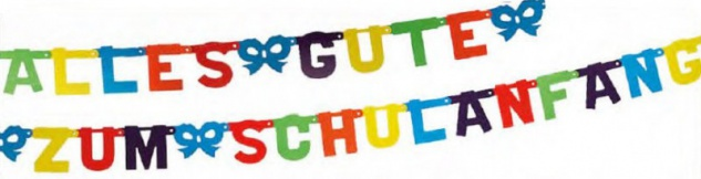 20 Servietten + Girlande + 5 Luftballons + Konfetti zum Schulanfang - Vorschau 2
