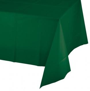 Plastik Tischdecke Dunkel Grün