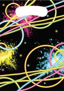 8 Party Tüten Knicklicht Neon Raver Party