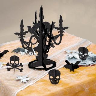 XXL Halloween Party Deko Set Voodoo Zauber Totenkopf 8 Personen - Vorschau 5