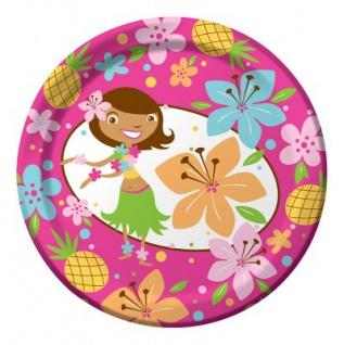 8 kleine Teller Hula Mädchen
