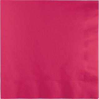 50 Servietten Pink Magenta 3-lagig