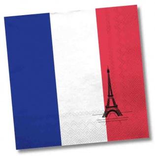 20 Servietten Frankreich Party Deko