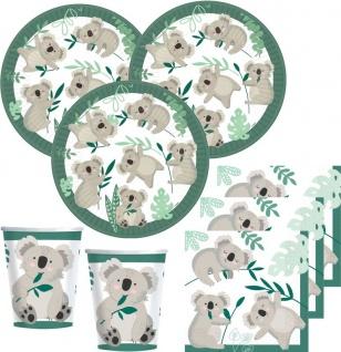 32 Teile kleiner Koala Party Deko Set 8 Personen