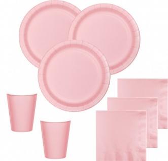 36 Teile Party Deko Set Pastell Rosa für 8 Personen