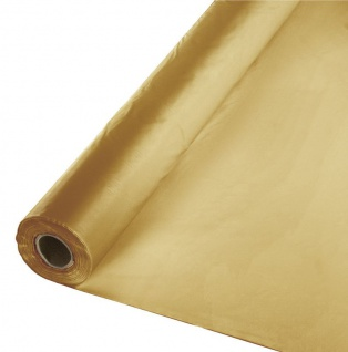 30 Meter Rolle Plastik Tischdecke Gold