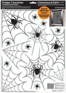 Halloween Fensterbild Spinnen Netz - Vorschau