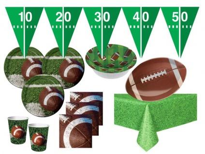 XXL 59 Teile American Football Touchdown Superbowl Party Deko Set 16 Personen