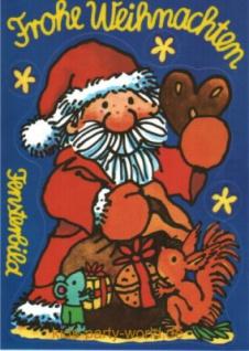 Fensterbild Postkarte Weihnachtsmann - Vorschau 1