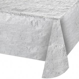 Tischdecke Silber Metallic