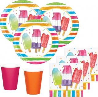 48 Teile Eis Hallo Sommer Party Deko Set für 16 Personen