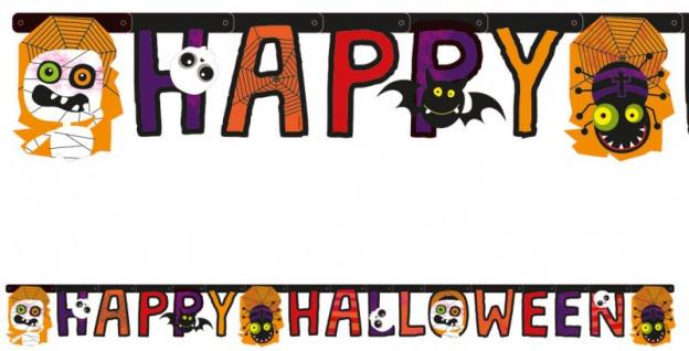 Happy Halloween Girlande Halloween Kids