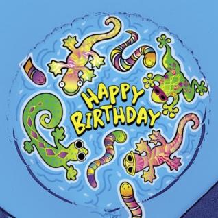 Geburtstags Folien Ballon Salamander