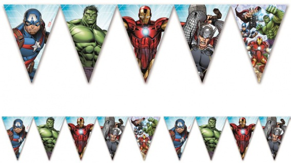 Wimpel Girlande MIGHTY Avengers Power