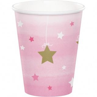 48 Teile Blinke Kleiner Stern Rosa Party Deko Set 16 Personen für die Baby Shower oder Kindergeburtstag - Vorschau 3