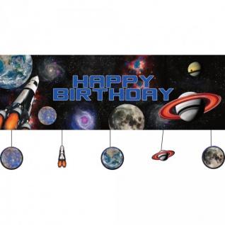 XXL Geburtstags Banner Weltraum Mission