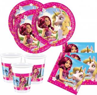 36 Teile Mia and Me Party Deko Basis Set - für 8 Kinder