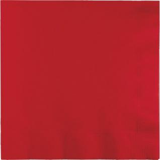 50 Servietten Klassisch Rot