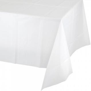 Plastik Tischdecke in Weiß