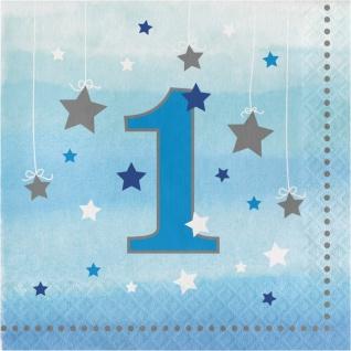 48 Teile Erster Geburtstag Blinke Kleiner Stern Blau Party Deko Set 16 Personen - Vorschau 4