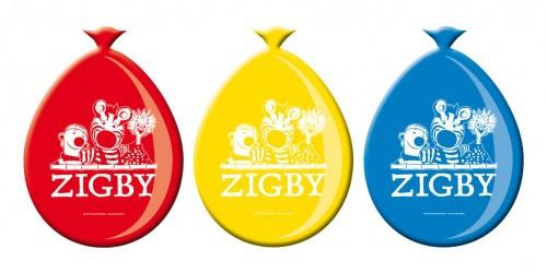 8 kleines Zebra Zigby und Freunde Dschungel Safari Ballons