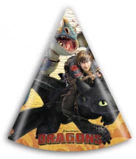 6 Party Hütchen Dragons