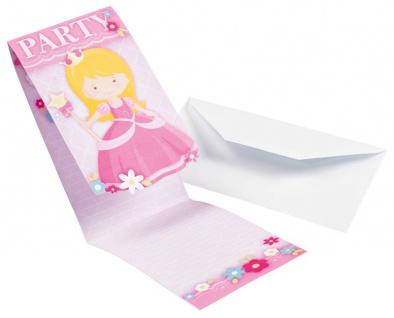 8 Einladungskarten kleine Prinzessin