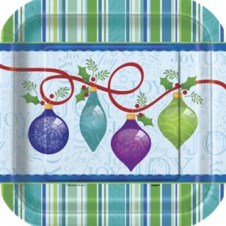 8 Teller Weihnachts Ornamente