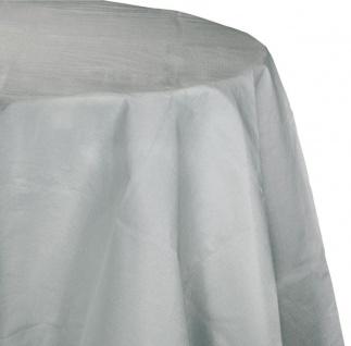 Runde Papier Tischdecke Silber