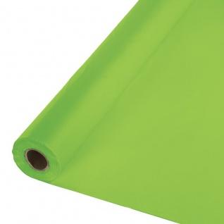 30 Meter Rolle Plastik Tischdecke Limonen Grün